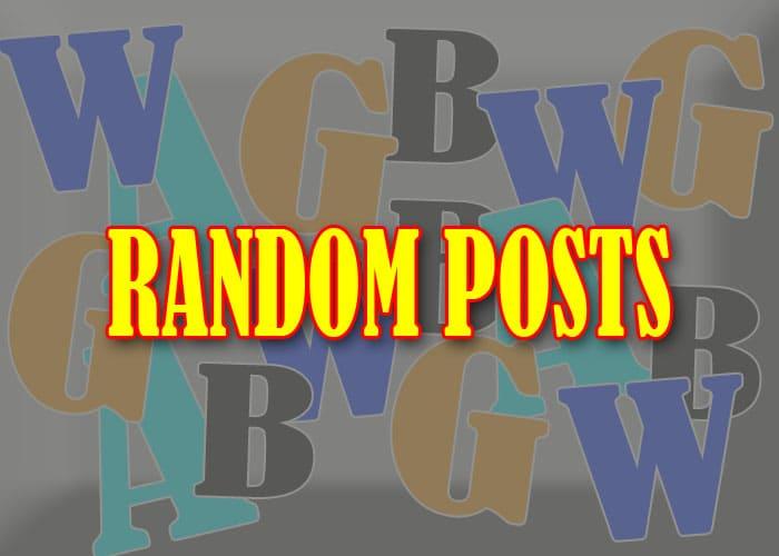 Cara Mudah Membuat Widget Random Posts