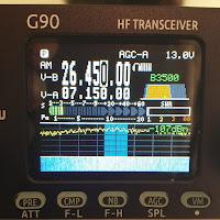 Ham Radio-Xiegu G90 HF Amateur Radio Transceiver 20W SSB/CW/AM/FM SDR Structure with Built-in Auto Antenna Tuner. The Display