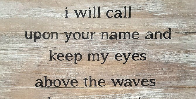 Learn how to give new wood a distressed, driftwood makeover! I'm sharing the tutorial for my DIY driftwood sign created from pine planks, as well as how to add lyrics. You'll find the tutorial at diy beautify!