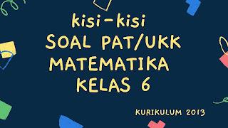 Download Kisi-Kisi Soal PAT/UKK Matematika Kelas 6 SD