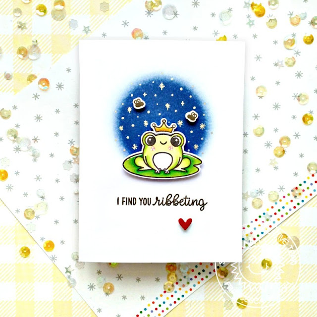 Sunny Studio Stamps: Feeling Froggy Enchanted Frog Themed Card by Franci Vignoli