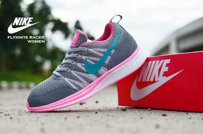 Sepatu Nike Free Flyknit Women Grey List Tosca