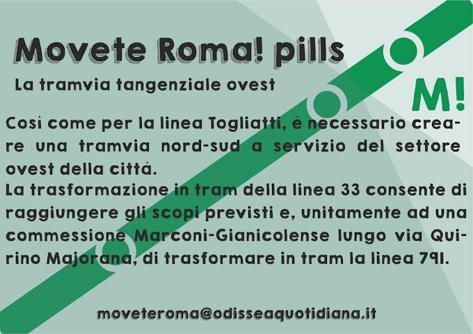 Movète Roma Pillola, numero 20: il tram tangenziale ovest