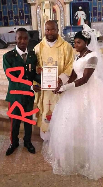 So Sad! Soldier Killed By Boko Haram Just 3 Months After His Wedding