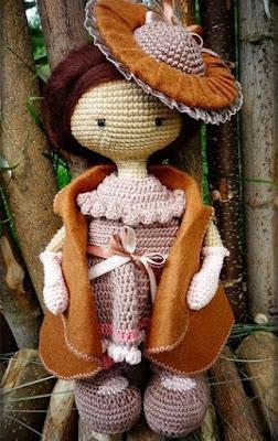 Вязаная кукла крючком амигуруми
