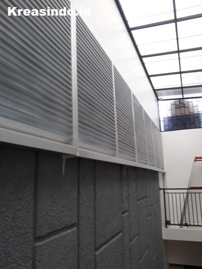 Kisi-Kisi Aluminium pemasangan di Rumah Bpk Hartono di Graha Raya Bintaro Tangerang