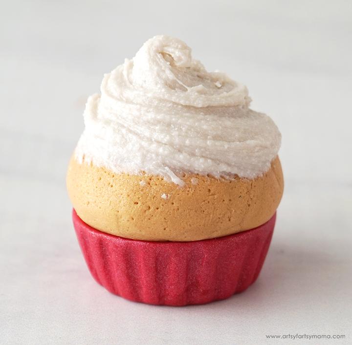 Polymer Clay Valentine Cupcake Frosting