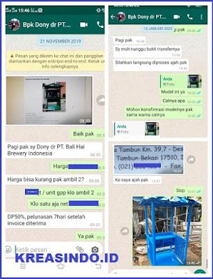 Pos Jaga Besi pesanan PT Bali Hai Brewery Indonesia untuk di Tambun Bekasi