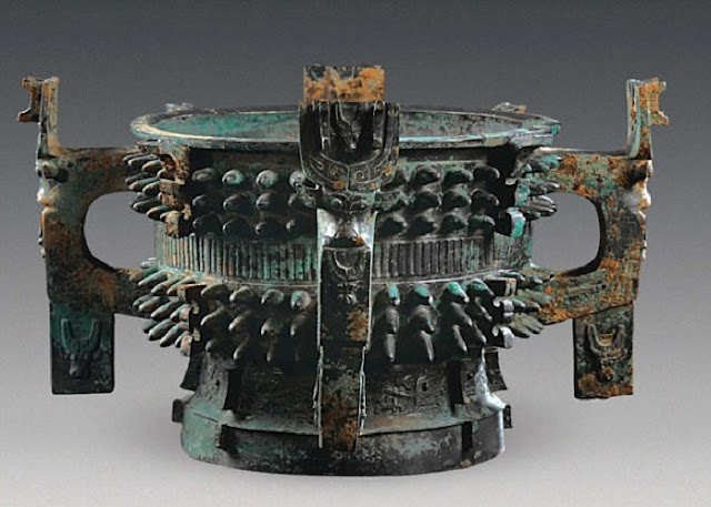 3,100 year old bronze ritual bowls discovered in China