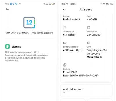 Xiaomi Mi Note 10 Duo dan Redmi Note 8 mendapatkan pembaruan Android 11