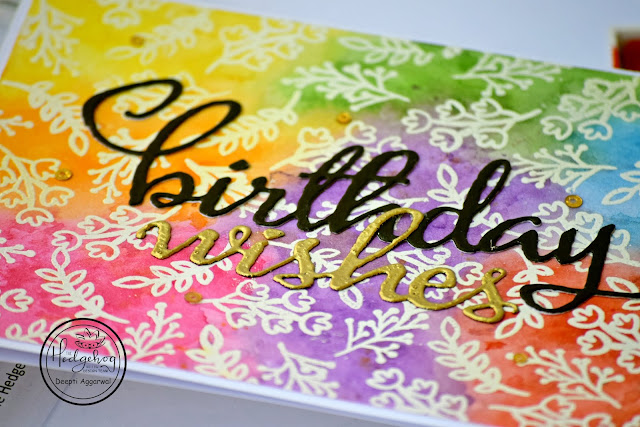 Water Colored Rainbow Background - Birthday Card
