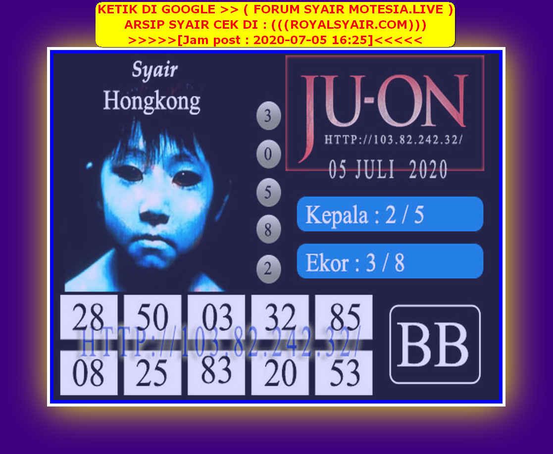 Kode syair Hongkong Minggu 5 Juli 2020 156