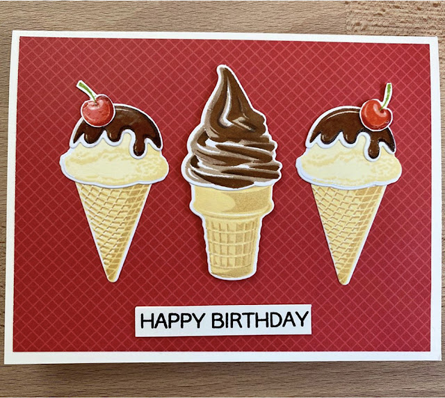 Sunny Studio Stamps: Two Scoops Customer Card by Lorah
