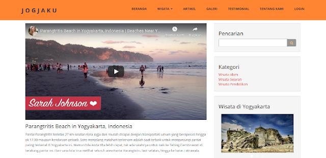 PHP Informasi Wisata Jogja Berbasis Web