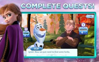 Disney Frozen Adventures: Customize the Kingdom | Game android Puzzle dan Dekorasi Kerajaan