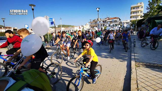 Με μεγάλη συμμετοχή η ποδηλατάδα στο Άργος (βίντεο)