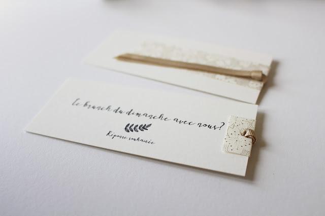 carton brunch sur mesure original délicat chic mariage trendy