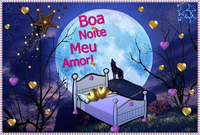Cartões postais de boa noite meu amor
