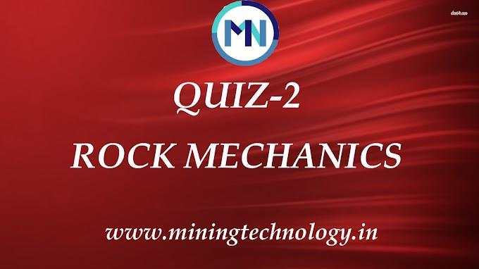 Rock Mechanics QUIZ-2