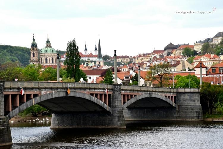 Beautiful Manes Bridge in Prague| Ms. Toody Goo Shoes #prague #manesbridge #danuberivercruise