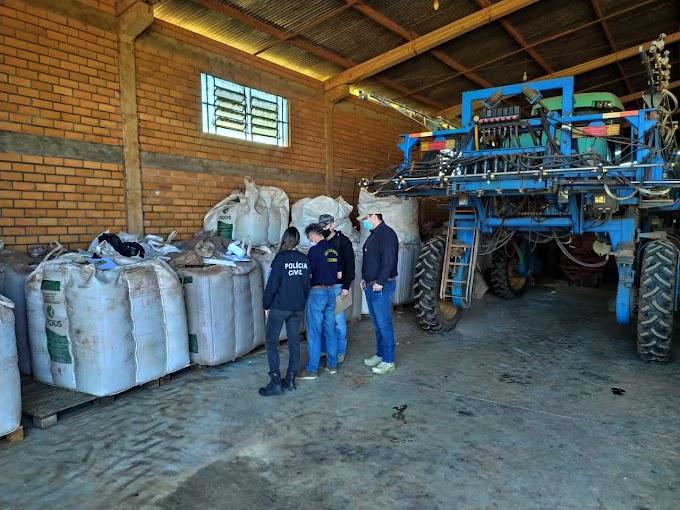 """Operação da Decrab/Bagé apreende 450 toneladas de sementes """"pirata"""" de soja"""
