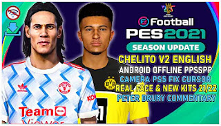 Download eFootball PES 2021 PPSSPP English Commentary Chelito V2 & New Update Last Transfer