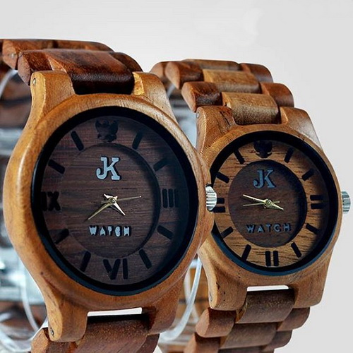 Tinuku JK Watch studio show two designs wooden watches handmade Jorda series uses teak wood