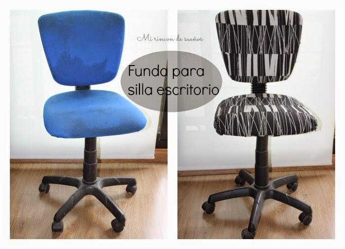 Mi rinc n de sue os hacer funda para silla de escritorio - Como forrar una silla de escritorio ...