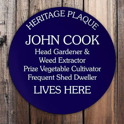 Personalised Blue Plaque - with any wording