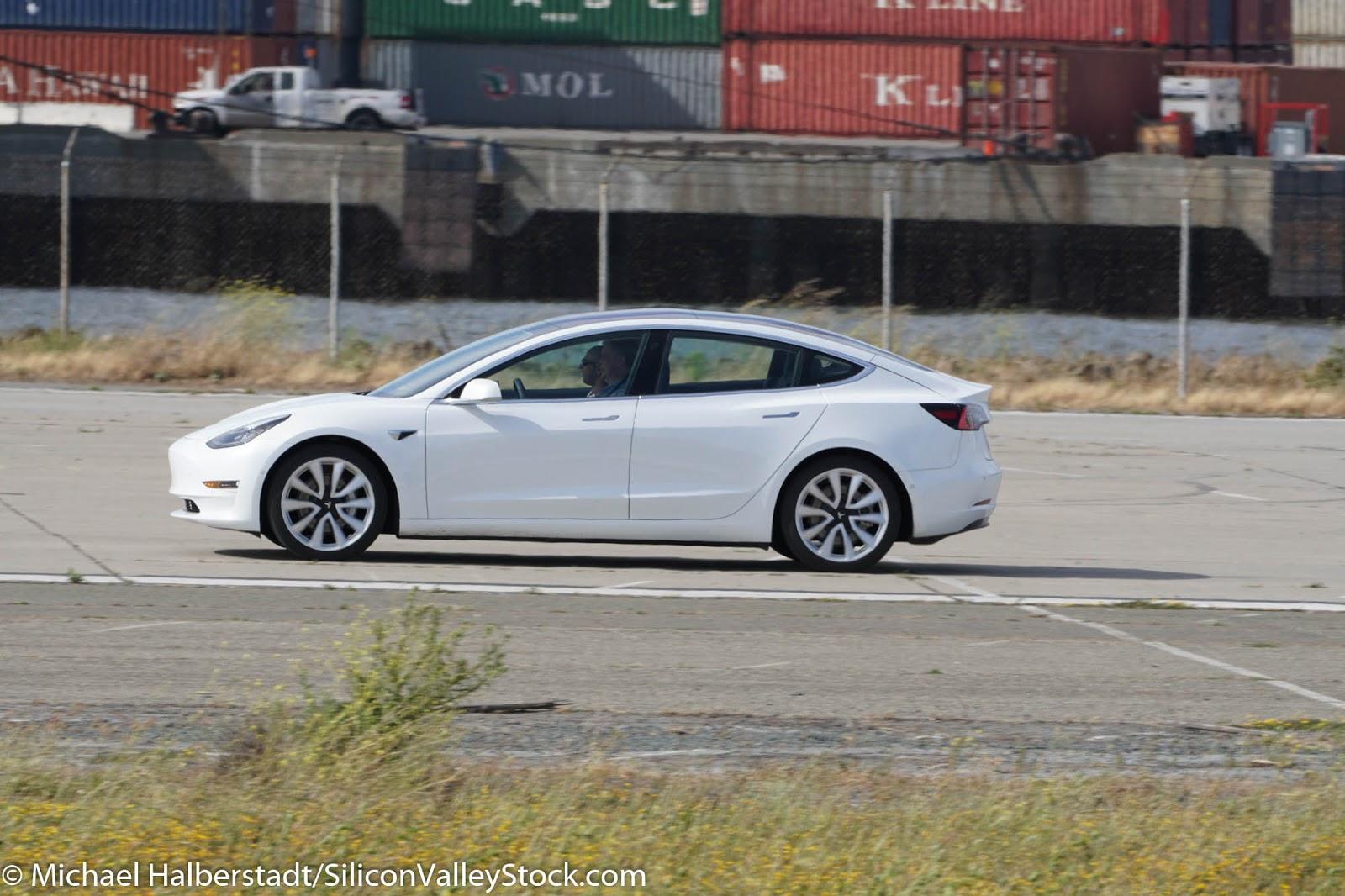 Tesla Testing on a Runway