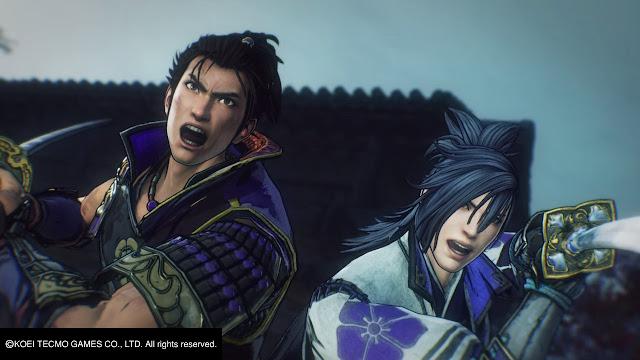 Oda Nobunaga Mitsuhide Akechi Listos para combatir Samurai Warrior 5 Nitendo Switch