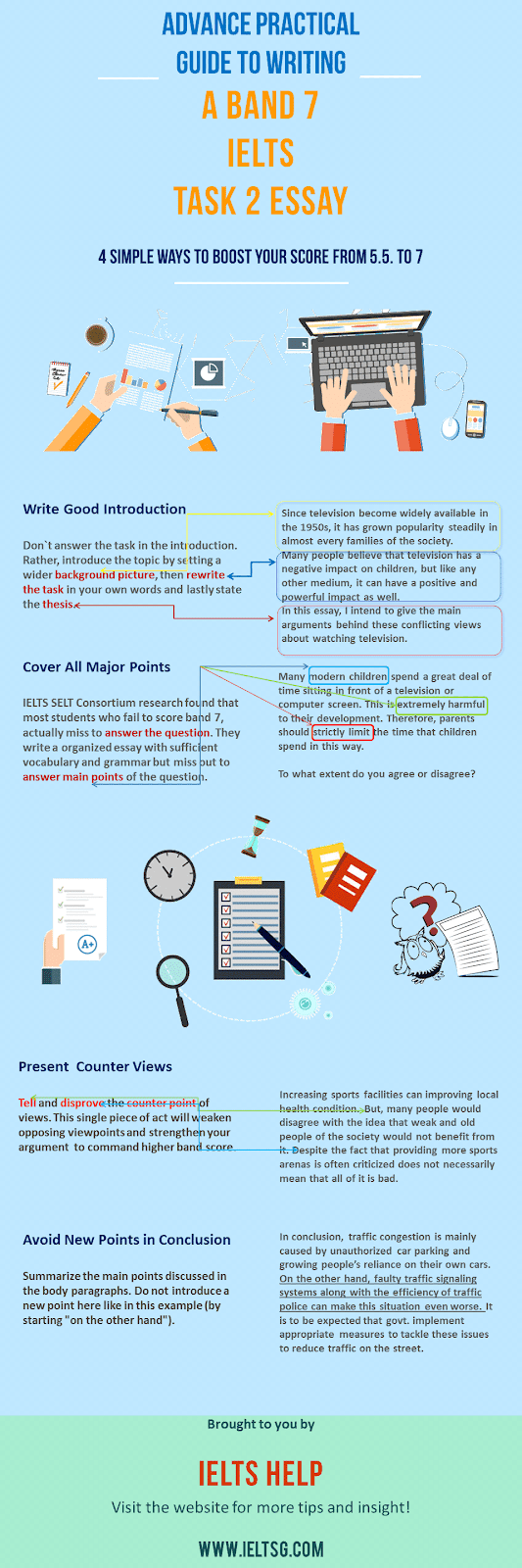 how to improve IELTS writing task 2 response