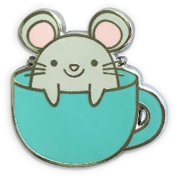 Sunny Studio Stamps: Merry Mice in Mug Enamel Collectible Pin - Automatically comes free with $50 purchase through 9/30/19