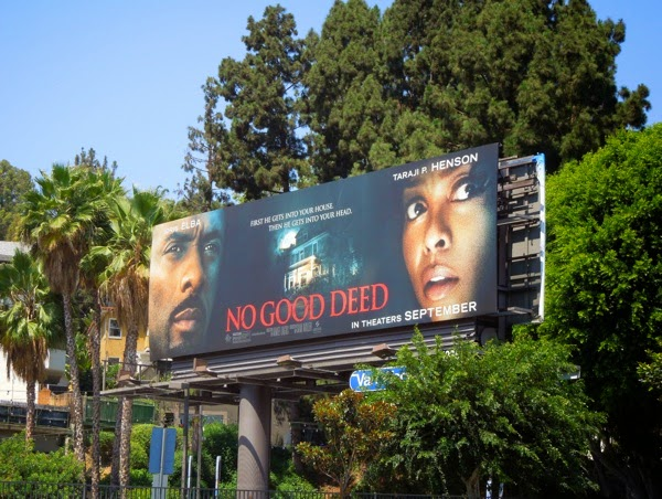 No Good Deed film billboard
