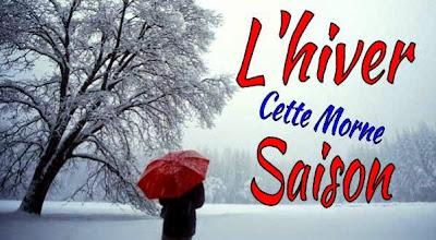 Image d'un hiver triste & parapluie rouge