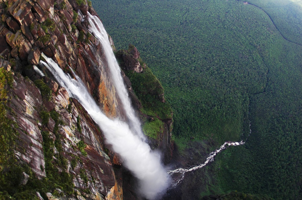 Высота водопада Анхель в Венесуэле
