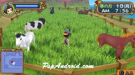 Harvest Moon Hero of Leaf Valley PPSSPP