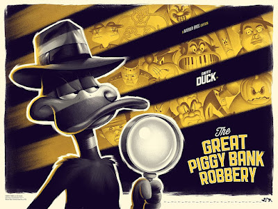 "MondoCon 2019 Exclusive Looney Tunes ""The Great Piggy Bank Robbery"" Screen Print by Phantom City Creative x Mondo"