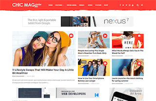 ChicMag fashion blogger template