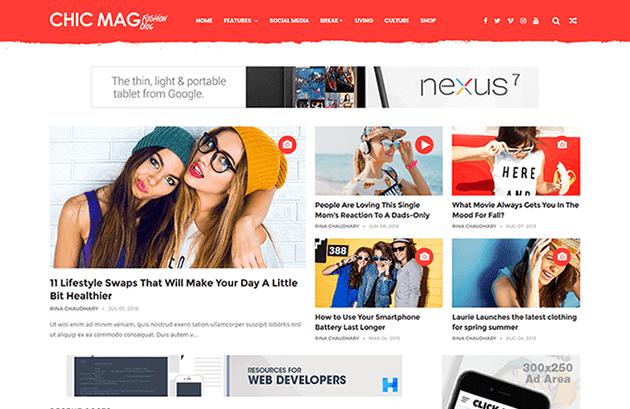 ChicMag fashion blogger template