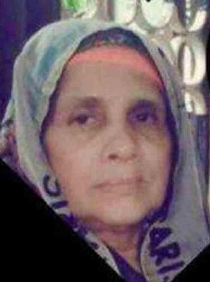 Zubaida from Theruvath passed away