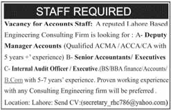 Staff required in Lahore
