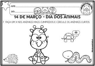 Atividades animais educação infantil