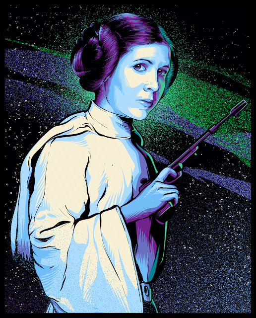 Cristiano Siqueira Star Wars Illustrations - Princess Leia