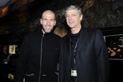 Wenger Dribbles Zidane Charity Match