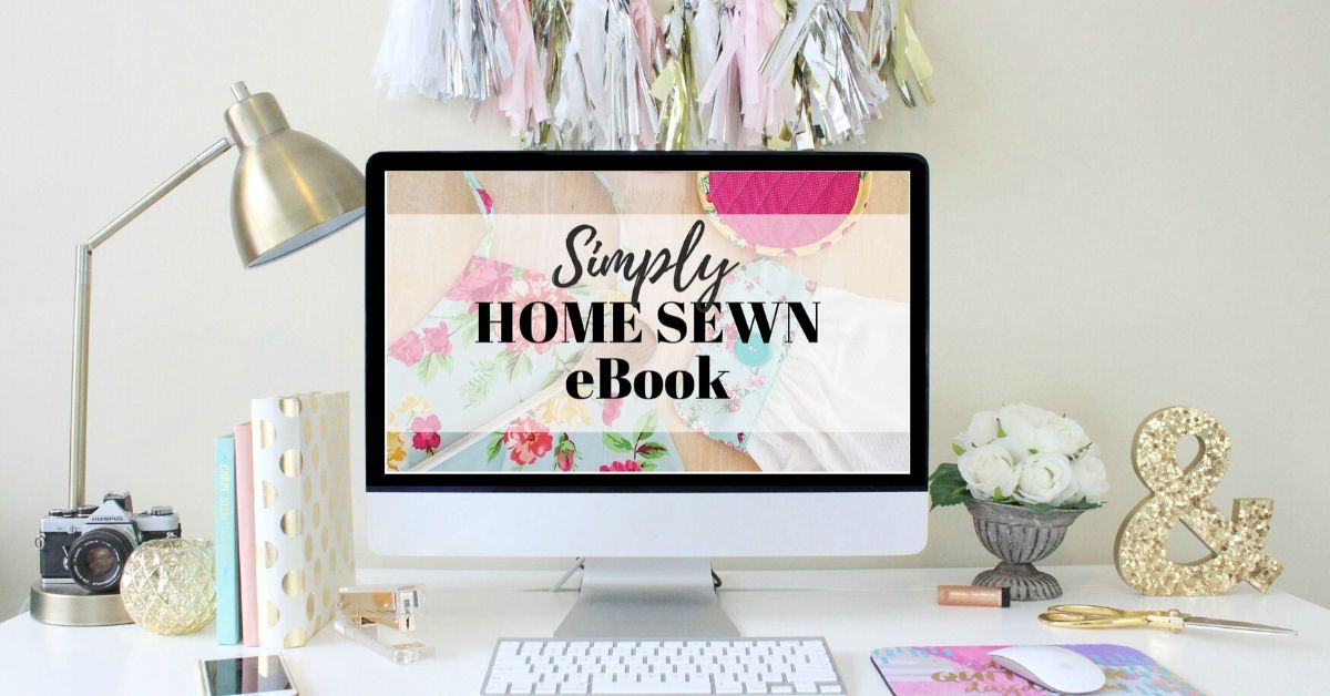 Learn to sew for the home with these 11 home sewing projects in the sewing eBook, Simply Home Sewn.