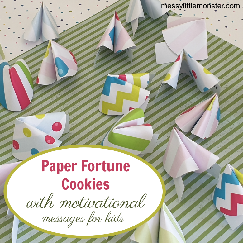 Paper fortune cookies for kids
