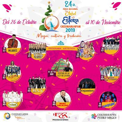 programa feria del arbol y la esfera chignahuapan 2019