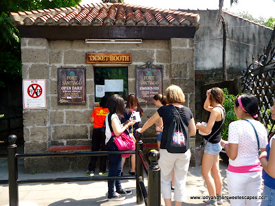 Entrance Fee at Fort SAntiago
