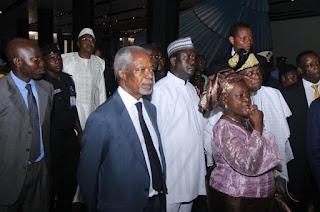 Raila Odinga in Nigeria with former UN chair Dr Koffi Annan. PHOTO | AFP